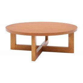 "37"" Round Coffee Table - Medium Oak Finish"