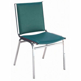 """KFI Stack Chair - Armless - Vinyl - 2"""" thick Seat Forest Vinyl"""