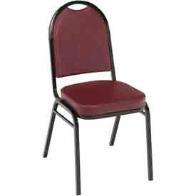 KFI Heavy Duty Banquet Stacking Chair - Burgundy Vinyl /Black Frame