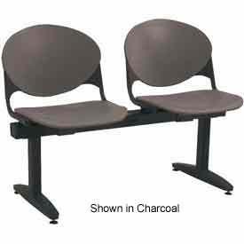 KFI Beam Seating - 2 Cool Gray Seats