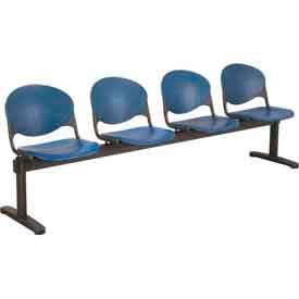 Beam Seating - 4 Navy Seats