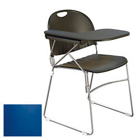 Economy Tablet Arm Chair - Left Handed Tablet - Navy Seat