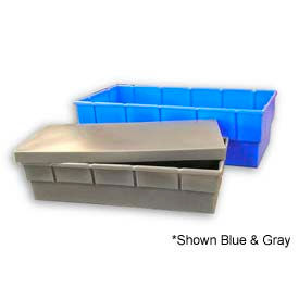 Bayhead Storage Container with Lid BS-48 - 48 x 5 x 3-1/2 Gray