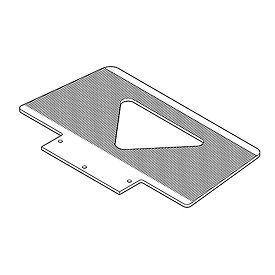 Optional Type GS Grooved Toe Plate 274165 for Wesco® LiftKar® SAL Stair Climbing Trucks