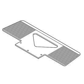 Optional Type XWL Grooved Toe Plate 274170 for Wesco® LiftKar® SAL Stair Climbing Trucks
