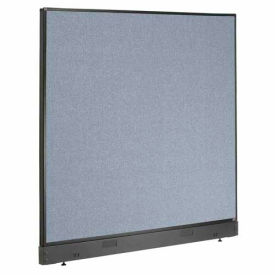 """Office Partition Panel with Raceway, 60-1/4""""W x 46""""H, Blue"""