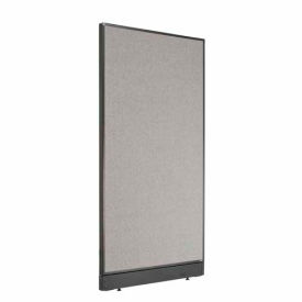 """Office Partition Panel with Raceway, 36-1/4""""W x 64""""H, Gray"""