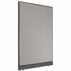 "Office Partition Panel with Raceway, 48-1/4""W x 64""H, Gray"