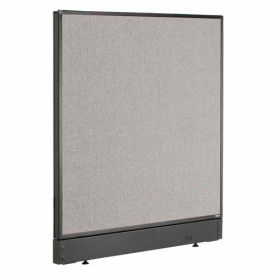"""Office Partition Panel with Raceway, 36-1/4""""W x 46""""H, Gray"""