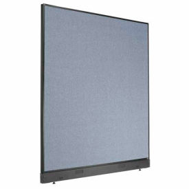 """Office Partition Panel with Raceway, 60-1/4""""W x 64""""H, Blue"""