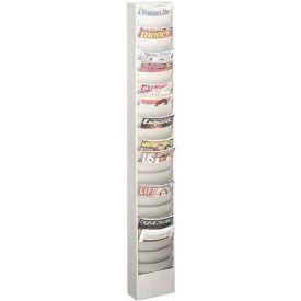 23 Curved Pocket Steel Literature Rack Platinum