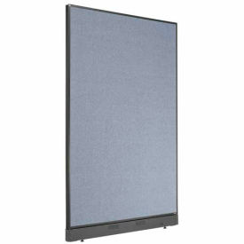 """Office Partition Panel with Raceway, 48-1/4""""W x 76""""H, Blue"""