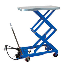 Vestil Pneumatic-Hydraulic Mobile Scissor Lift Table AIR-800-D 800 Lb. Capacity