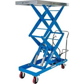 Vestil Pneumatic-Hydraulic Mobile Scissor Lift Table AIR-1500-D 1500 Lb. Cap.