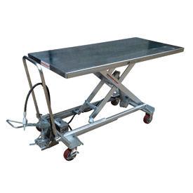 Vestil Stainless Steel Pneumatic Mobile Scissor Lift AIR-1000-LD-PSS 1000 Lb.