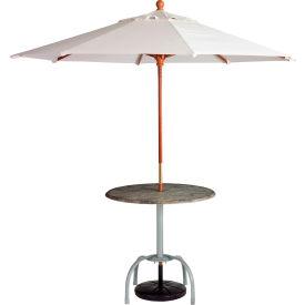 Grosfillex® 7' Wooden Market Outdoor Umbrella, White