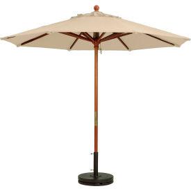 Grosfillex® 7' Wooden Market Outdoor Umbrella, Khaki