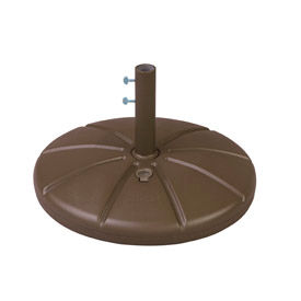 Grosfillex® Resin Outdoor Umbrella Base With Filling Cap, Bronze Mist