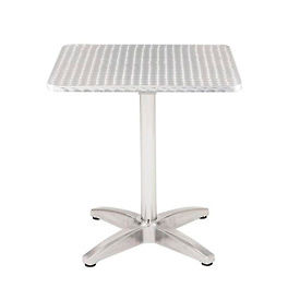 "KFI Outdoor 32"" Square Stainless Steel Table"