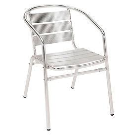 KFI Outdoor Stackable Arm Chair - Aluminum