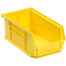 Global™ Plastic Storage Bin - Parts Storage Bin -  4-1/8 x 7-3/8 x 3, Yellow - Pkg Qty 24