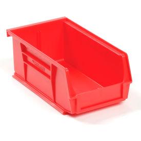 Global™ Plastic Storage Bin - Small Parts 4-1/8 x 7-3/8 x 3, Red - Pkg Qty 24