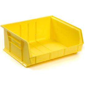 Global™ Plastic Storage Bin - Parts Storage Bin 16-1/2 x 14-3/4 x 7, Yellow - Pkg Qty 6