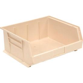Global™ Stackable Storage Bin 16-1/2 x 14-3/4 x 7, Beige - Pkg Qty 6