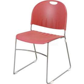Sled Base Stack Chair Burgundy