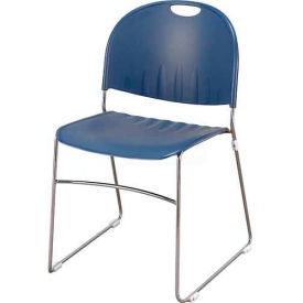 Sled Base Stack Chair Navy
