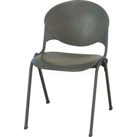 KFI Plastic Stack Chair - Charcoal