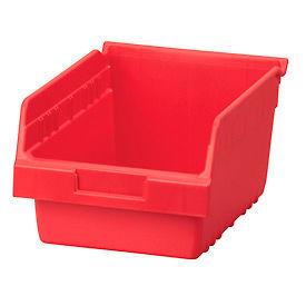 "Akro-Mils ShelfMax® Plastic Shelf Bin Nestable 30080 - 8-3/8""W x 11-5/8""D x 6""H Red - Pkg Qty 8"