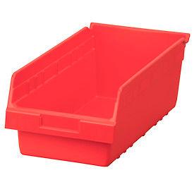"Akro-Mils ShelfMax® Plastic Shelf Bin Nestable 30088 - 8-3/8""W x 17-7/8""D x 6""H Red - Pkg Qty 8"