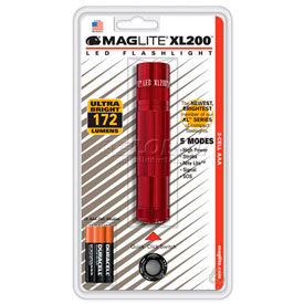 Maglite® XL200-S3036 XL200™ 3 Cell AAA LED Flashlight Red