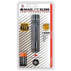 Maglite® XL200-S3096 XL200™ 3 Cell AAA LED Flashlight Gray