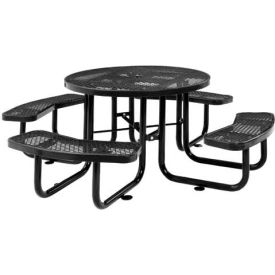 Benches Picnic Tables Picnic Tables Steel Quot Round - Black metal picnic table