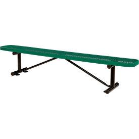 "96"" Expanded Metal Mesh Flat Bench Green"