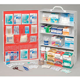 First Aid Kit - 4 Shelf Cabinet, 100-150 Person