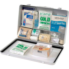First Aid Kit - 50 Person, Metal Gasketed Case
