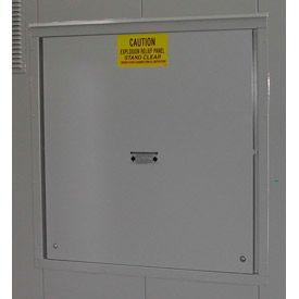 Explosion Relief Panel Upgrade for Outdoor Hazardous Storage Building - 6 Drum