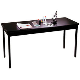 Allied Plastics Science Table - Chemical Resistant Top - Steel Frame 24x72