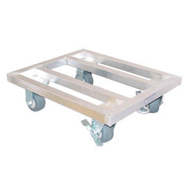 """PVI, MDR2430, Aluminum Mobile Dunnage Rack 30""""W x 24""""D x 8""""H"""