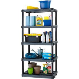 Plano Plastic Shelving (962493) 36W x 23-1/4D x 73-1/2H Capacity 200 lbs