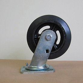 """6"""" Mold-on Rubber Swivel Caster 6218-SR for Little Giant® Carts"""