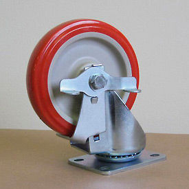 """5"""" Polyurethane Swivel Caster with Brake 5125PPY-S-BRK for Little Giant® Carts"""