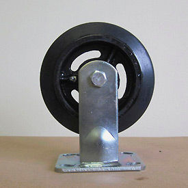 """8"""" Mold-on Rubber Rigid Caster 8218-RR for Little Giant® Carts"""