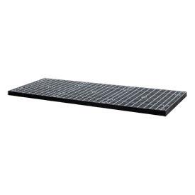 "Structural Plastic Vented Shelf, 66""W x 36""D, Black"