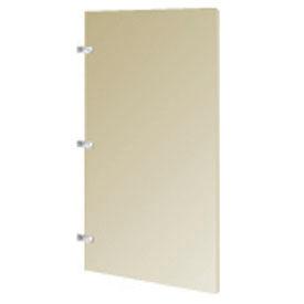 "Urinal Screen w/ Wall Mounting Bracket - 24""W x 42""H Cream"