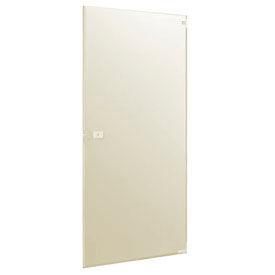 "Polymer Inward Swing Partition Door - 25-3/5"" W x 55"" H Cream"