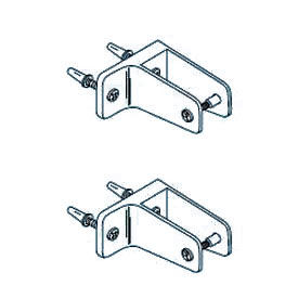 Pilaster to Wall Bracket Kit for Polymer Partition